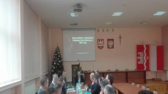 Posiedzenie Rady Powiatowej Podlaskiej Izby Rolniczej w Wysokiem Mazowieckiem 18.12.2017r.