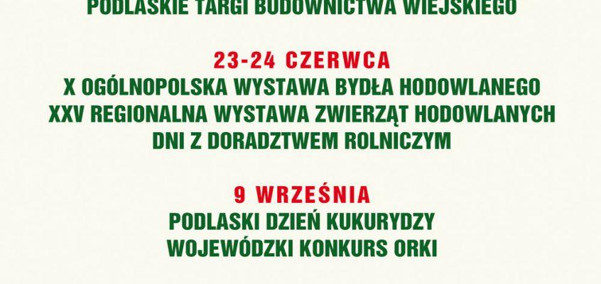 Kalendarz imprez Podlaskiego ODR w Szepietowie