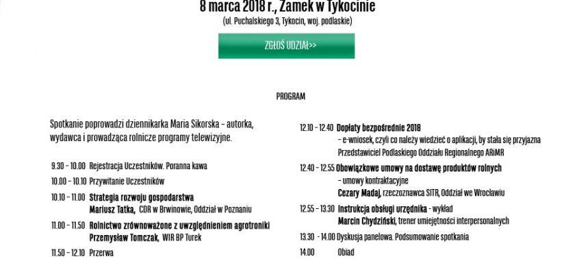 Zaproszenie na AGRO AKADEMIĘ – Tykocin