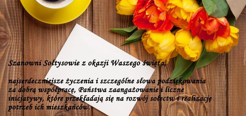 Szanowni Sołtysowie z okazji Waszego święta