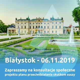 Zaproszenie na spotkanie w ramach konsultacji społecznych PPSS – Białystok, 6 listopada