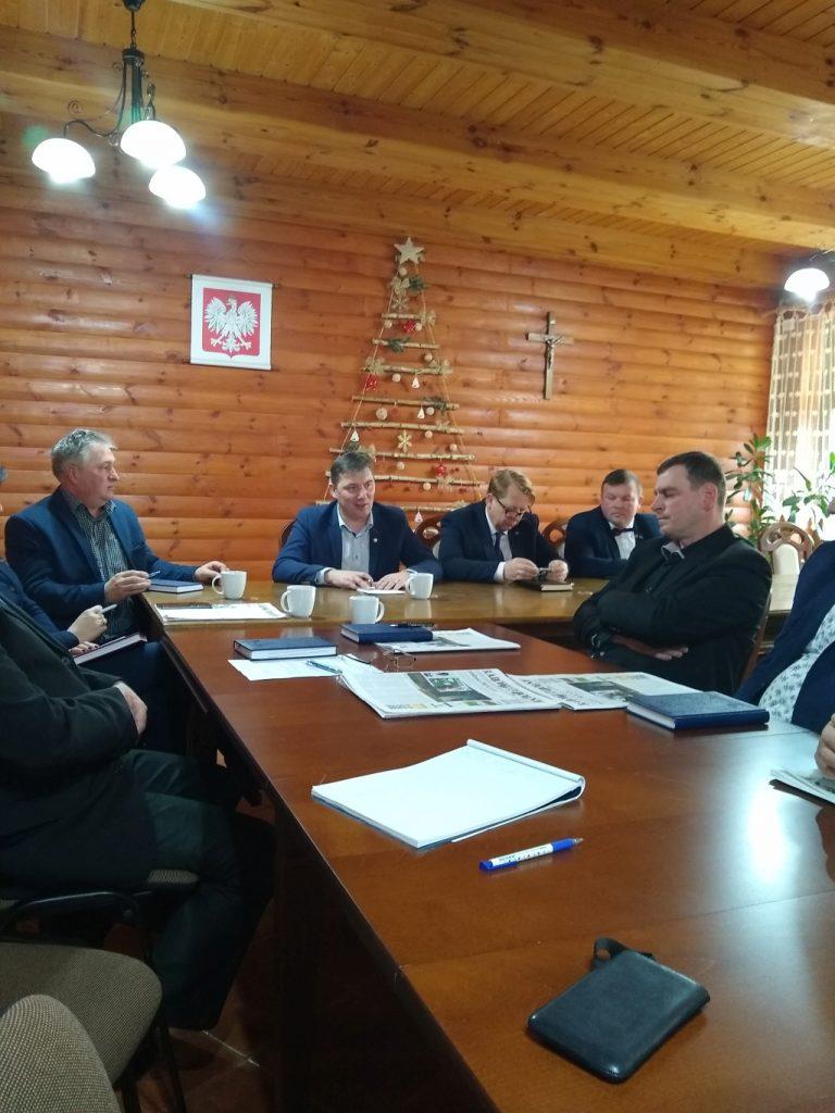 Wspólne wigilijne posiedzenie Rad Powiatowych Podlaskiej Izby Rolniczej powiatu bielskiego i hajnowskiego