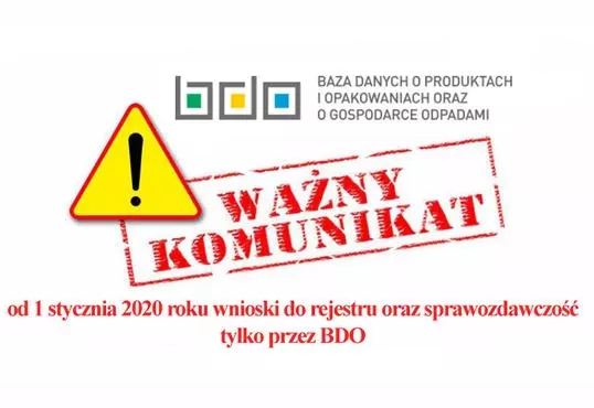Od 1 stycznia wnioski do rejestru oraz sprawozdawczość tylko przez BDO